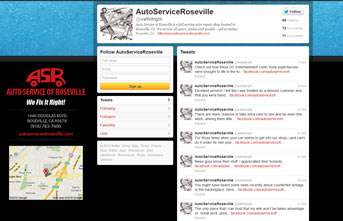 Automotive Service of Roseville Twitter Profile