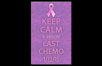 Keep Calm and Celebrate Last Chemo Banner